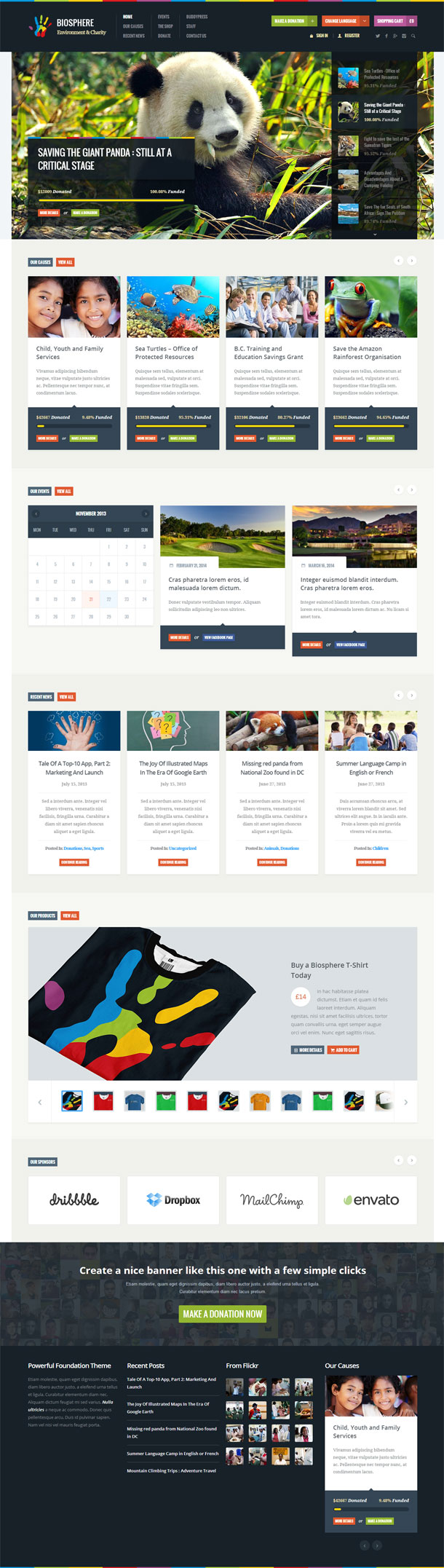 Biosphere Best Non Profit WordPress Theme Image
