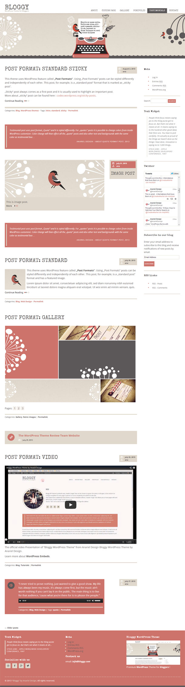 Bloggy Best Responsive Theme Image