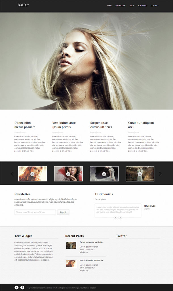 Boldly Multimedia WordPress Theme with Slider Image