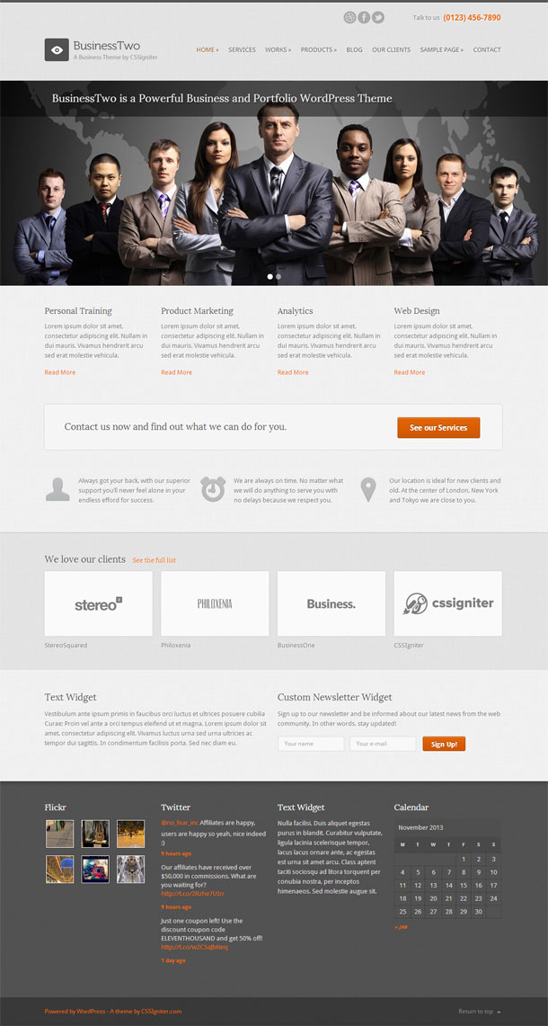 BusinessTwo Best Responsive Theme Image