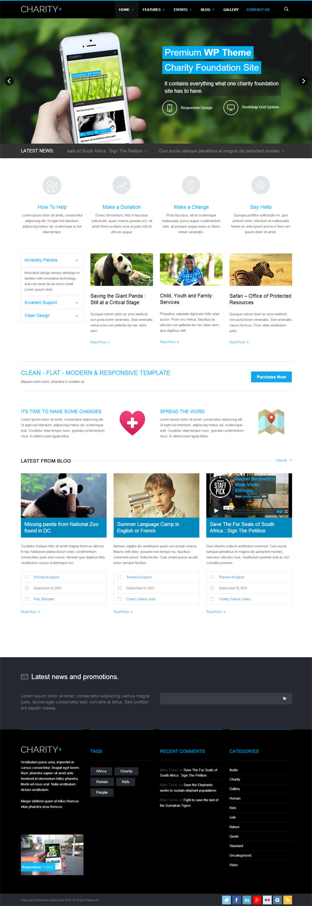 Charity+ Best Non Profit WordPress Theme Image