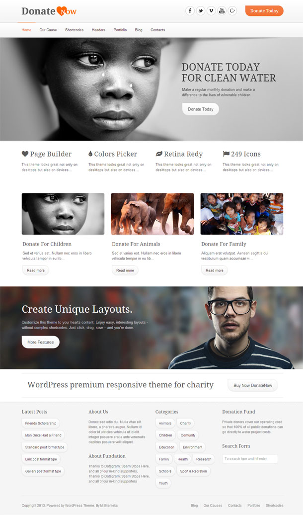 DonateNow Best Non Profit WordPress Theme Image