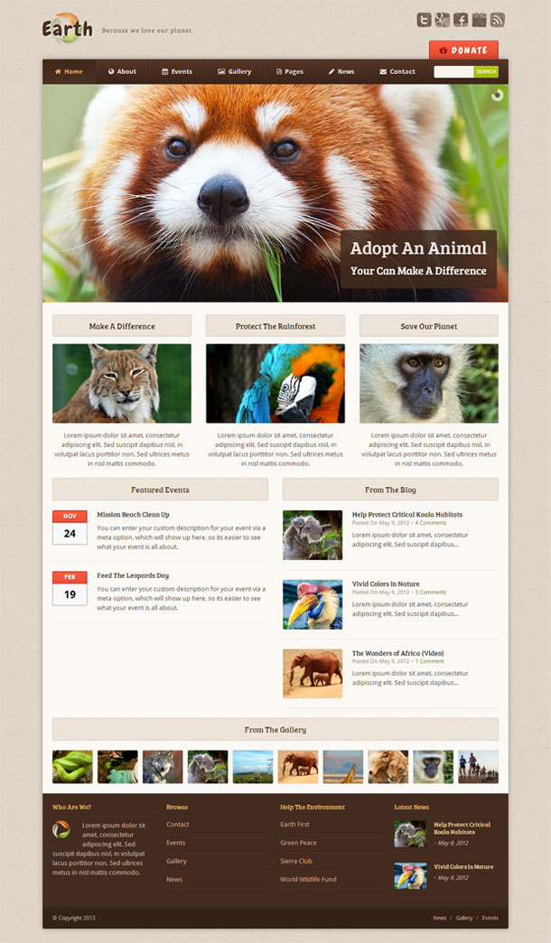 Earth Best Non Profit WordPress Theme Image