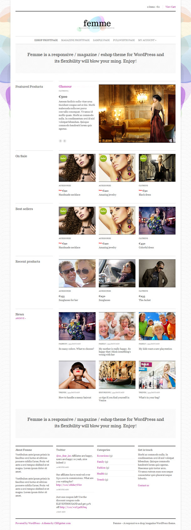 Femme Best Responsive Theme Image