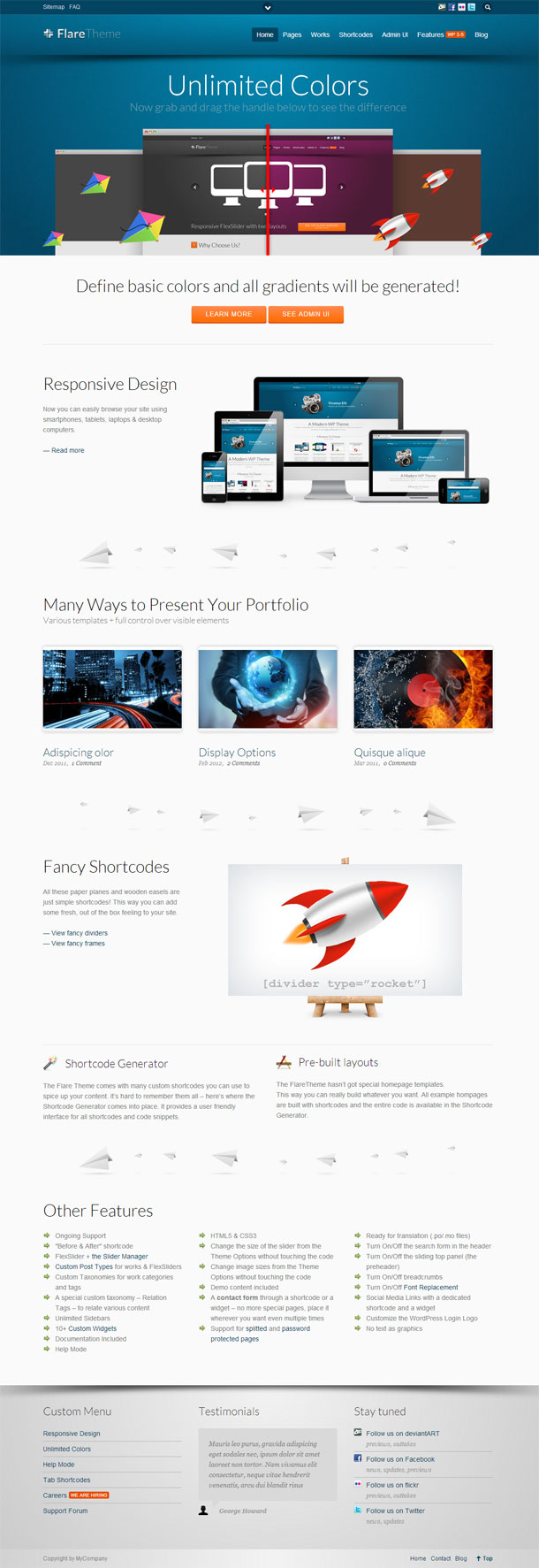 Flare Best Responsive Theme Image