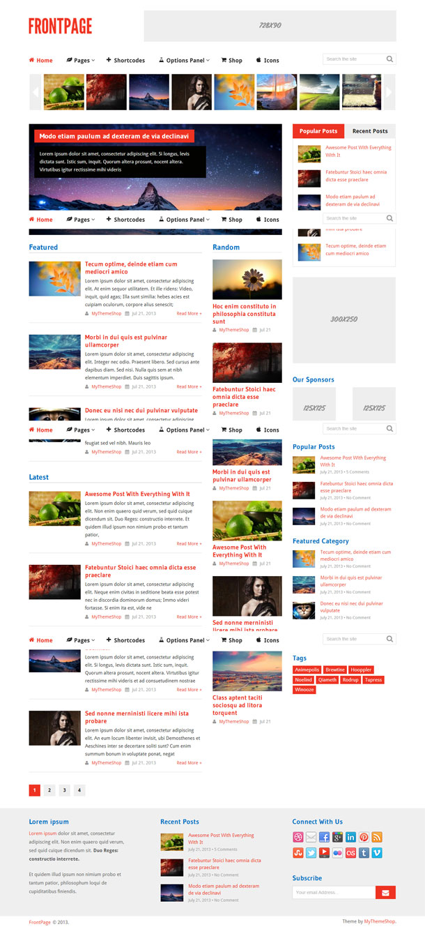 Frontpage Best Responsive Theme Image