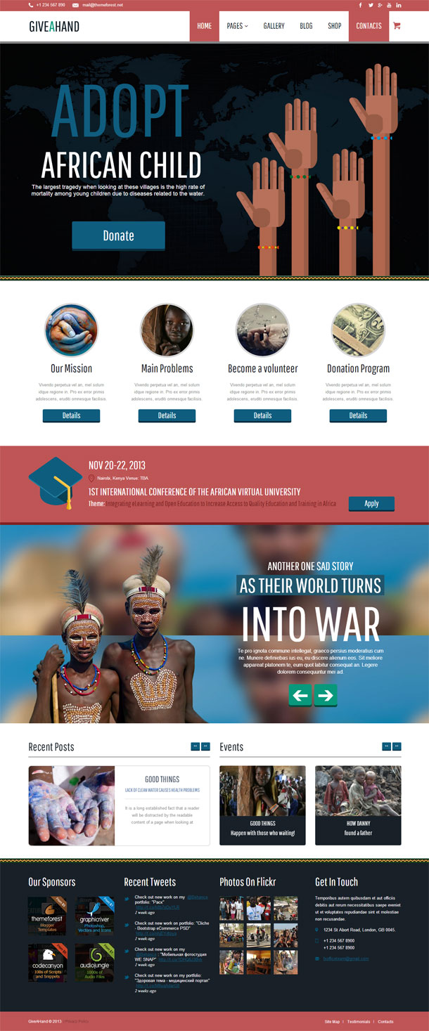 GiveAHand Best Non Profit WordPress Theme Image