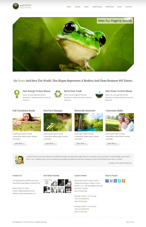 Go Green Best Non Profit WordPress Theme Image