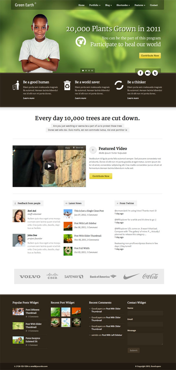 Green Earth Best Non Profit WordPress Theme Image