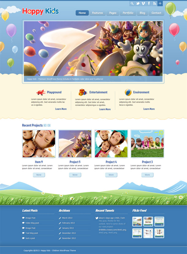 Happy Kids Nursery Theme Image