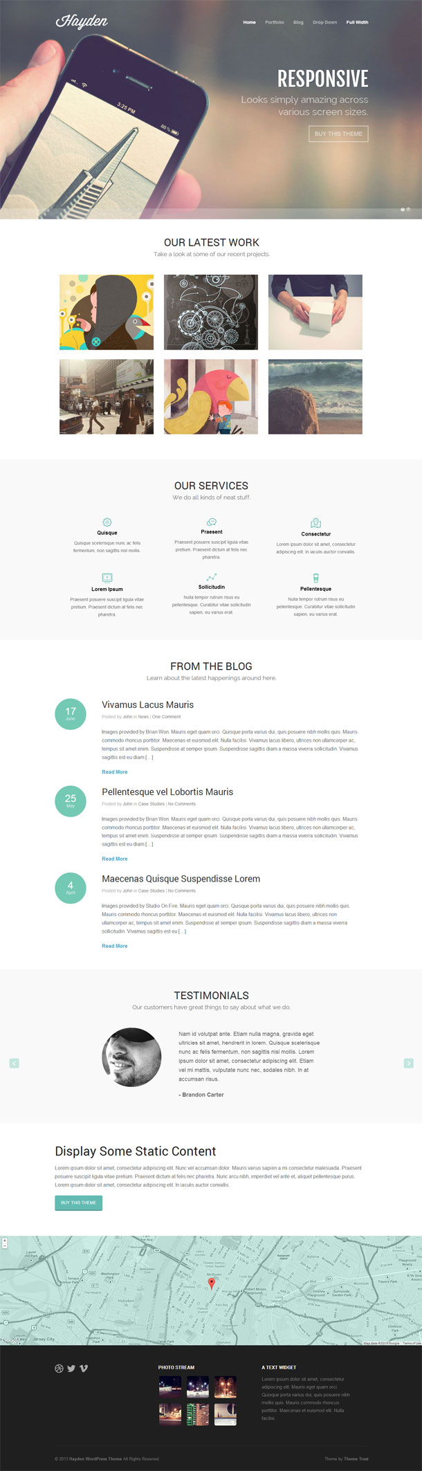 Hayden Awesome Multimedia WordPress Theme with Slider Image