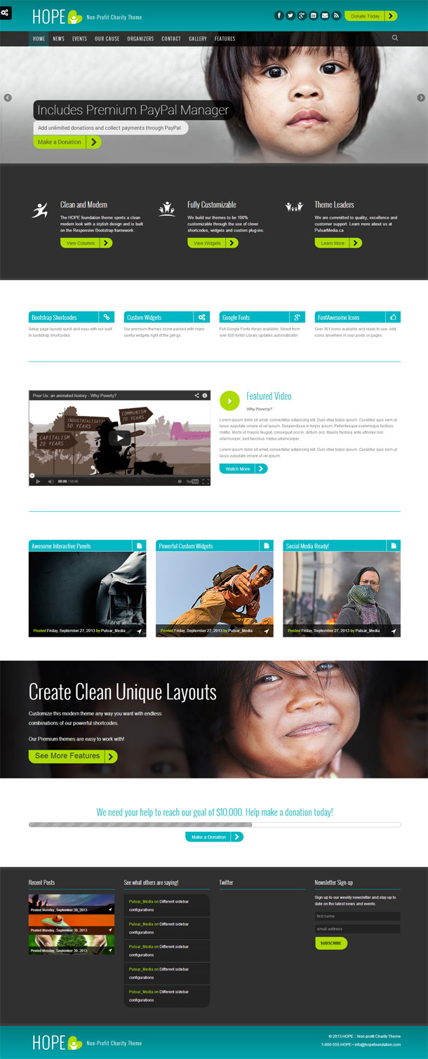 Hope Best Non Profit WordPress Theme Image