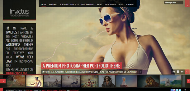 Invictus The Most Popular WP Themes Theme Image