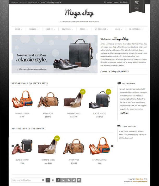 MayaShop The Most Popular WP Themes Theme Image