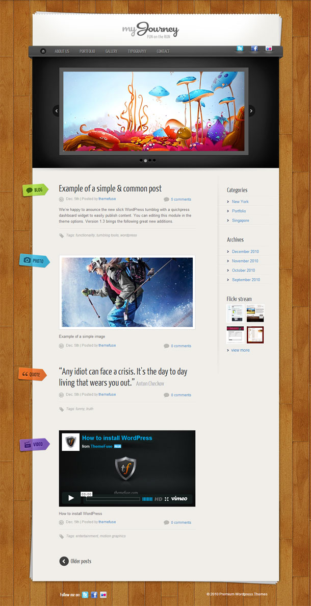 My Journey Multimedia WordPress Theme with Slider Image