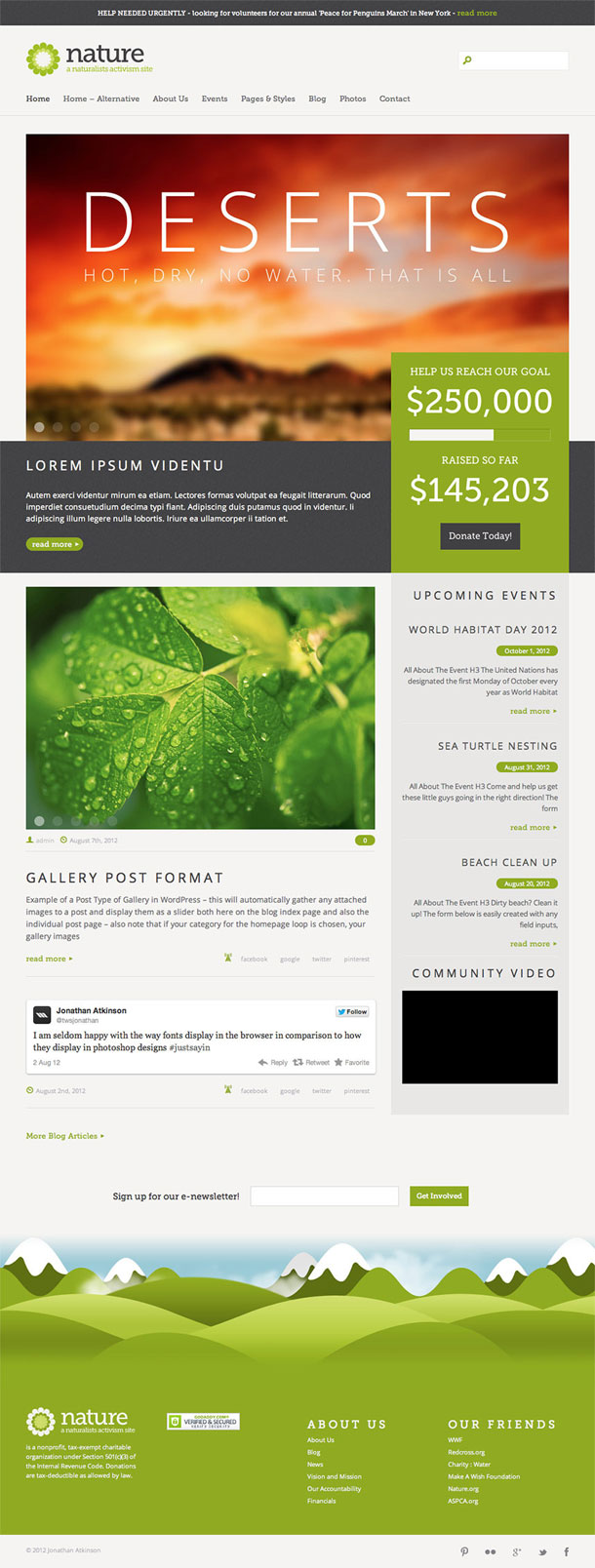 Nature Best Non Profit WordPress Theme Image
