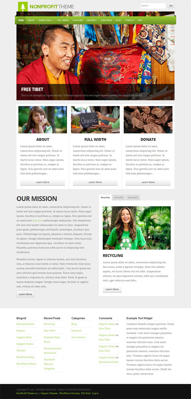 NonProfit Best Non Profit WordPress Theme Image