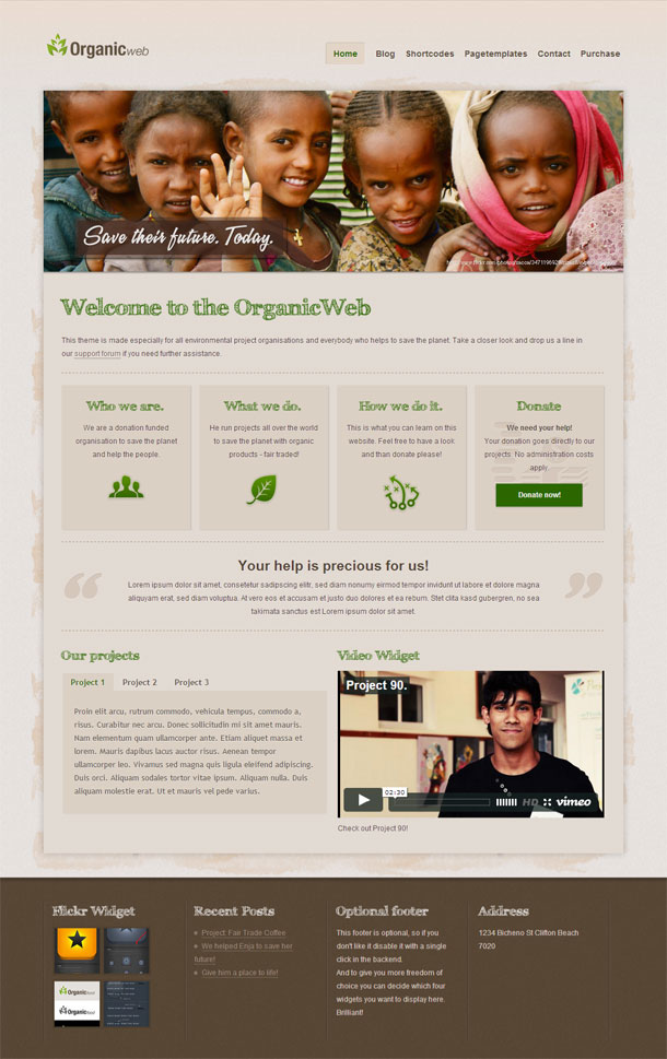 Organic Web Best Non Profit WordPress Theme Image