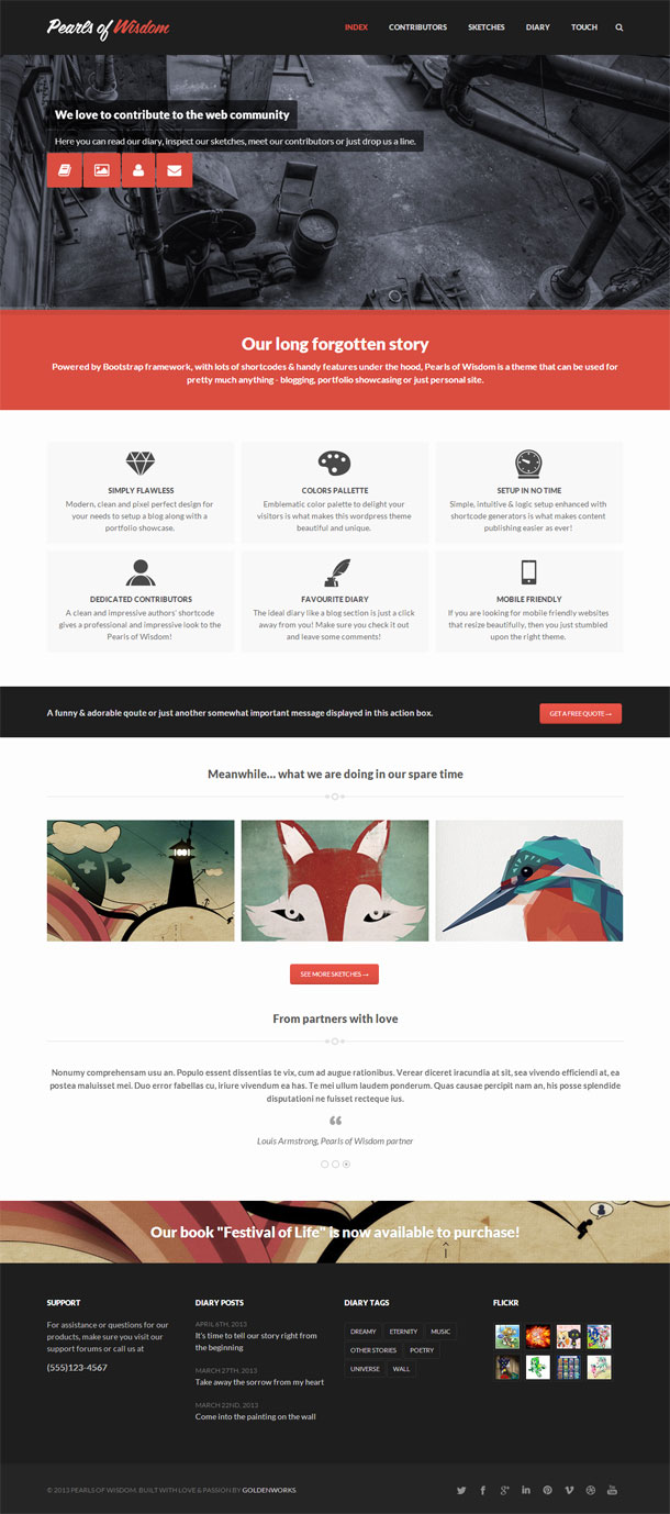 Pearls of Wisdom Best Responsive Theme Image