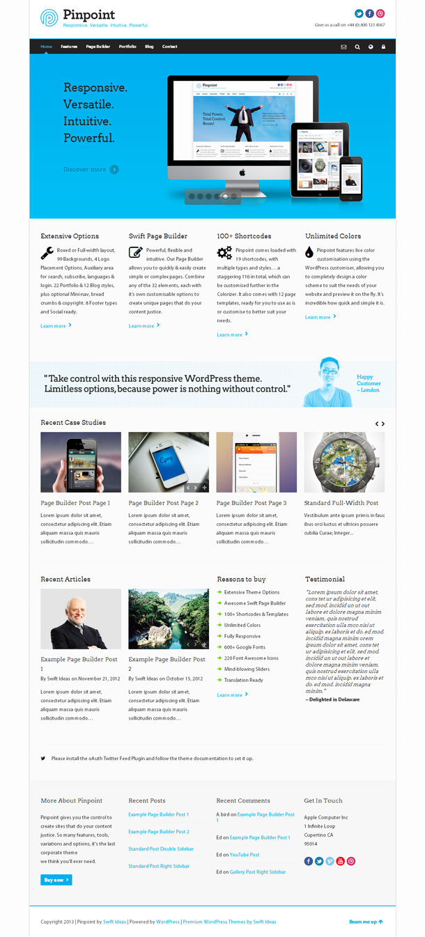 Pinpoint Best Responsive Theme Image
