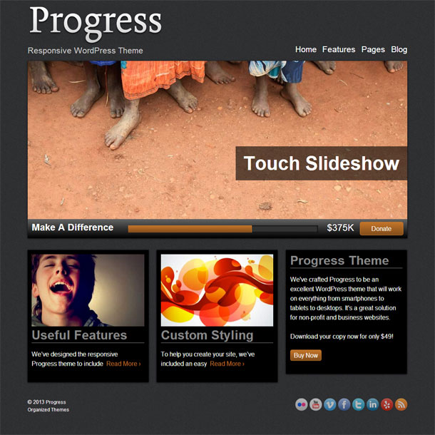 Progress Best Non Profit WordPress Theme Image