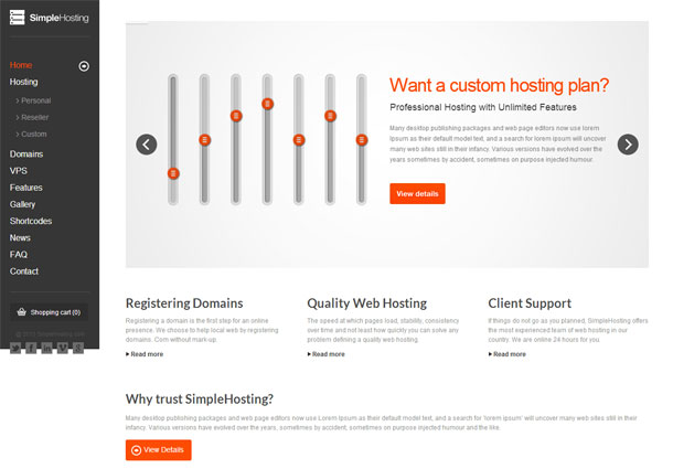Simple Hosting Theme Image