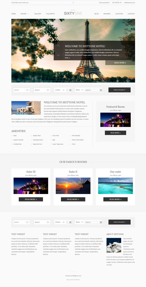 SixtyOne Multimedia WordPress Theme with Slider Image