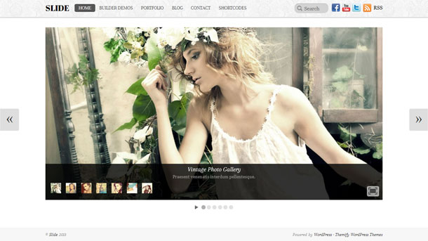 Slide Multimedia WordPress Theme with Slider Image