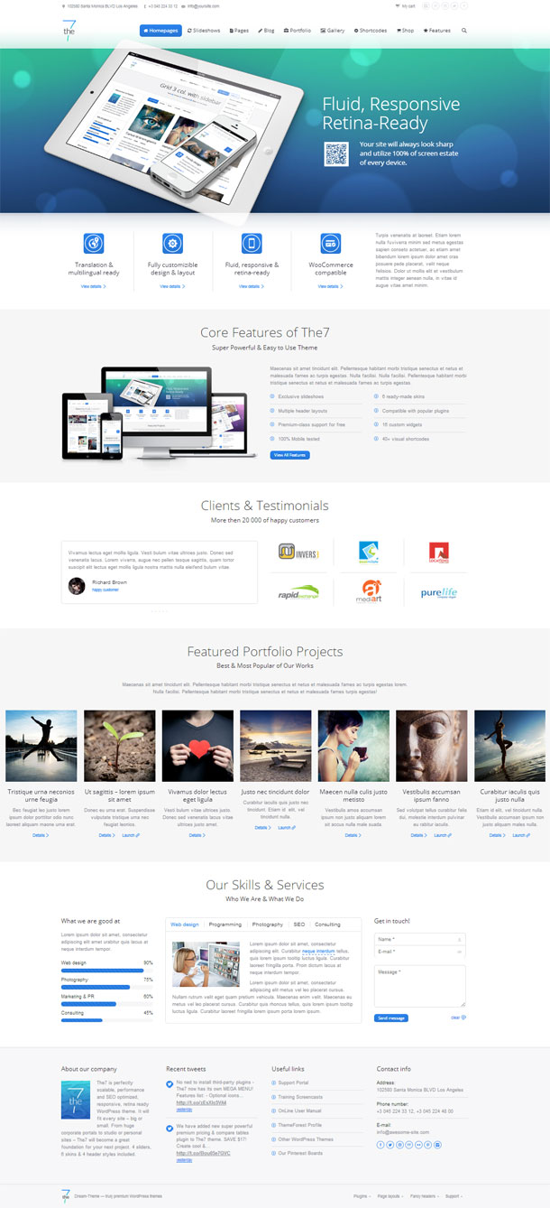 The7 Best Responsive Theme Image