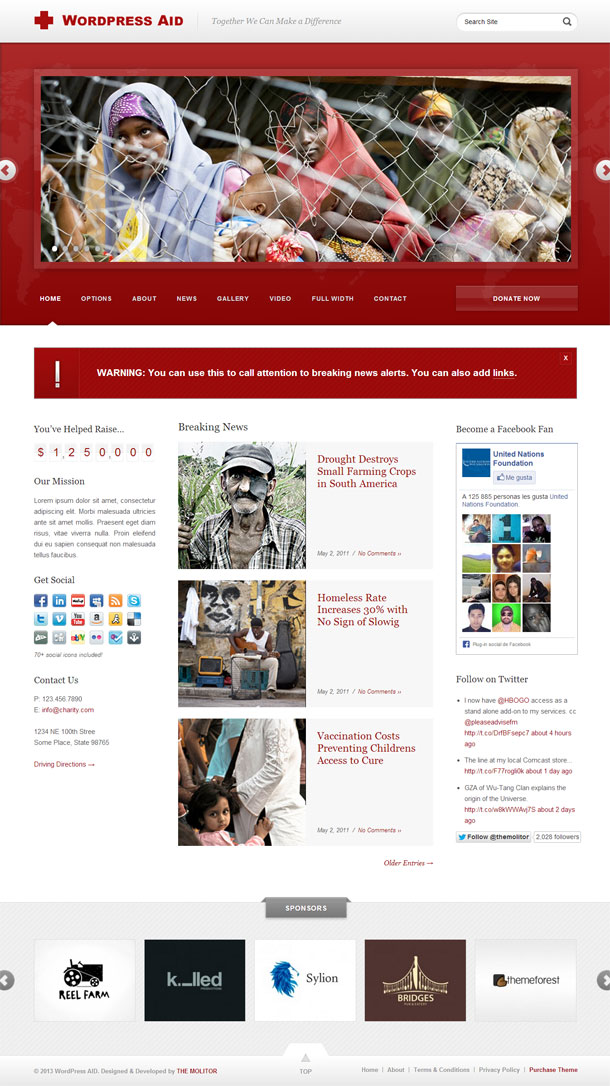 WordPress Aid Best Non Profit WordPress Theme Image