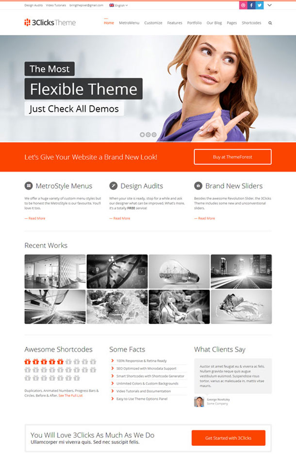 3Clicks Great WordPress Theme for 2014 image