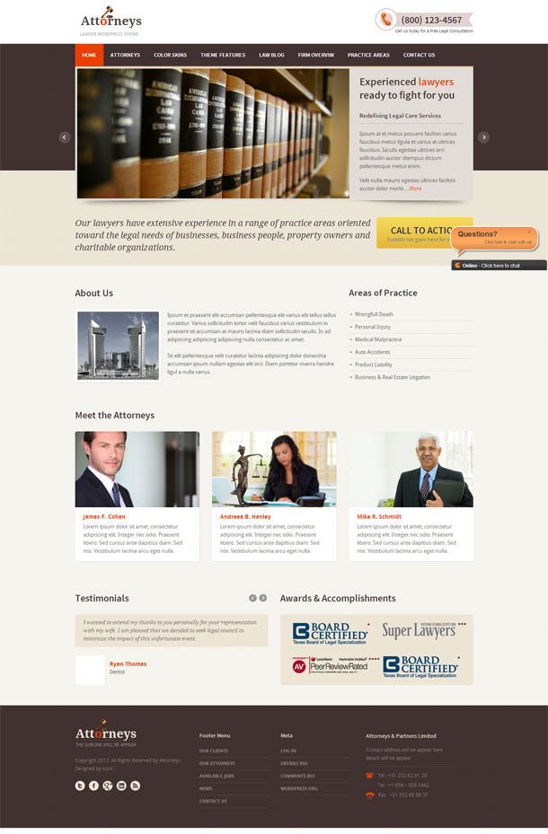 Attorneys Lawyers & Law Firms Theme Image