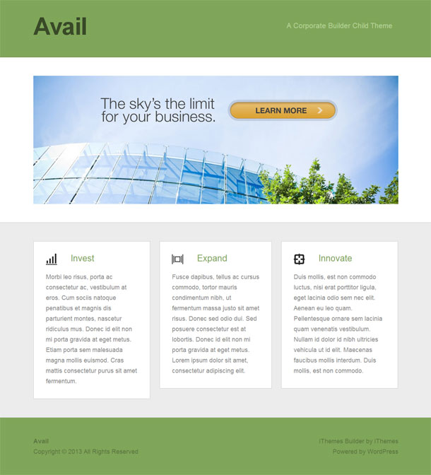 Avail Business Theme Image