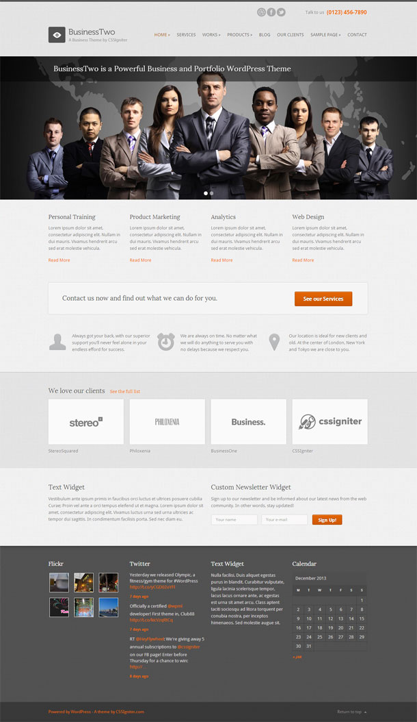 BusinessTwo Lawyers & Law Firms Theme Image