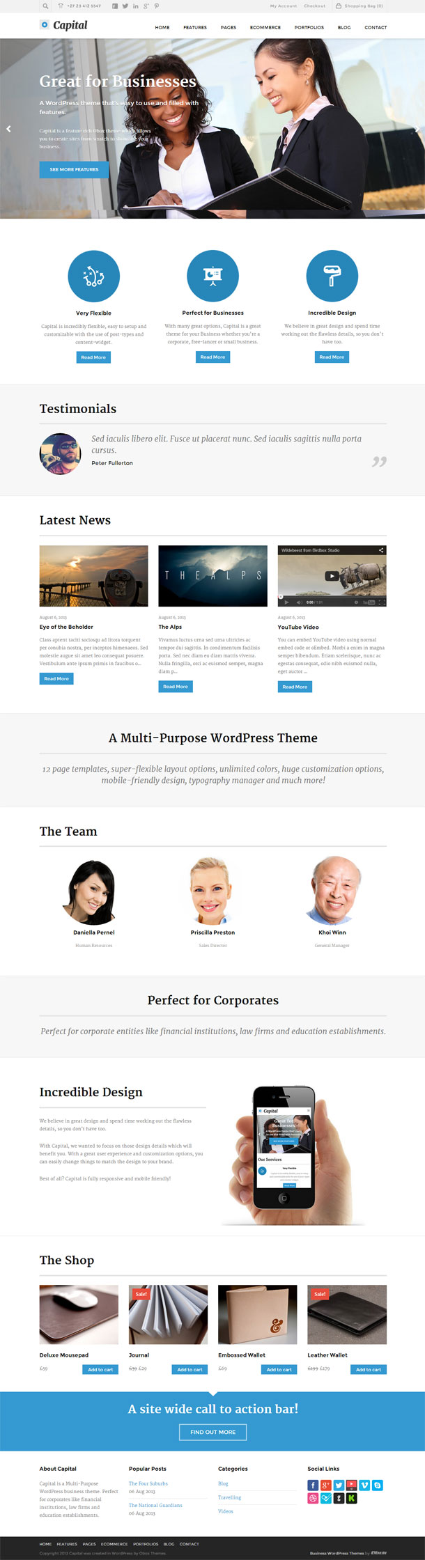 Capital Business Theme Image