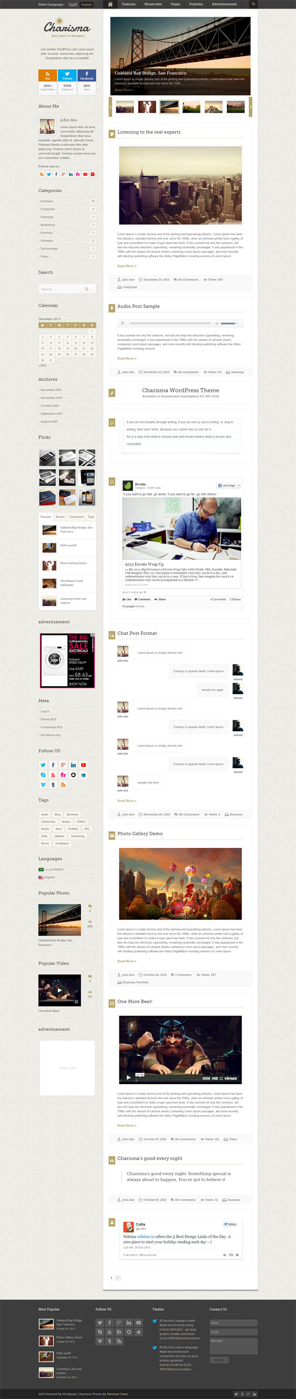 Charisma Great WordPress Theme for 2014 image