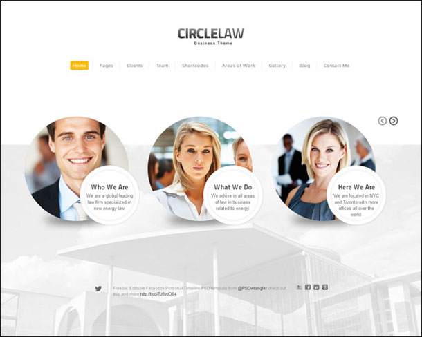 CircleLaw Lawyers & Law Firms Theme Image