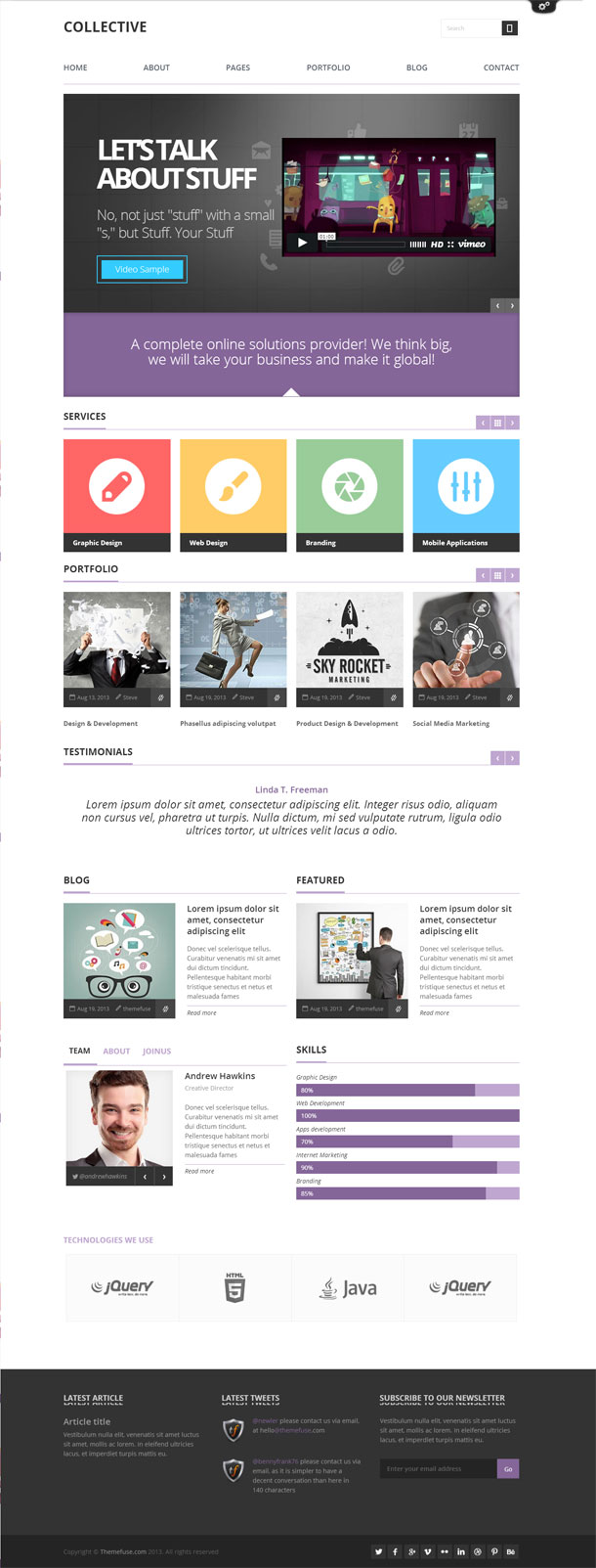 Collective Great WordPress Theme for 2014 image