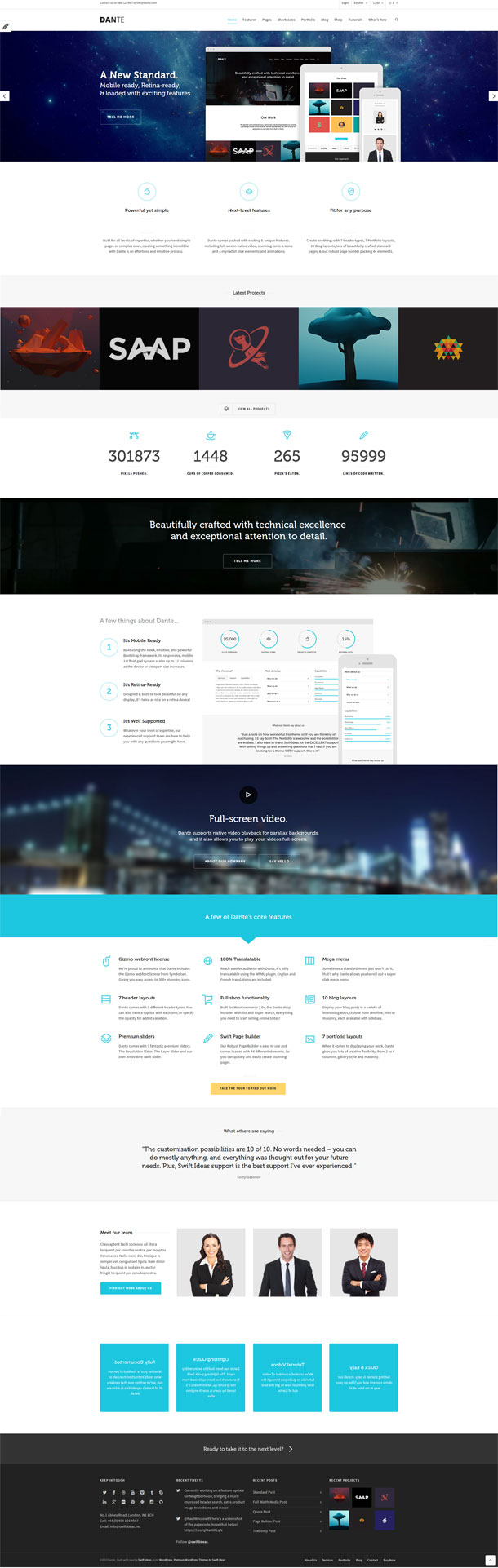 Dante Great WordPress Theme for 2014 image