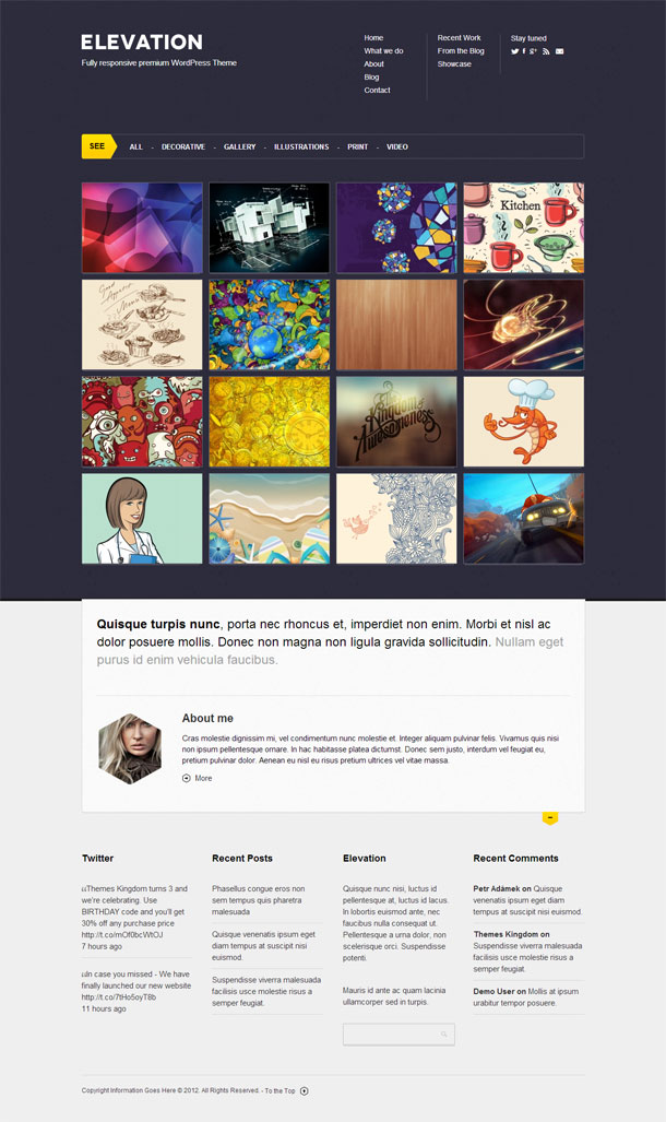 Elevation Great WordPress Theme for 2014 image