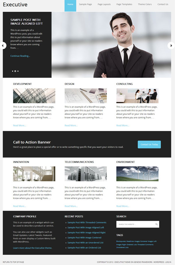 Executive Lawyers & Law Firms Theme Image