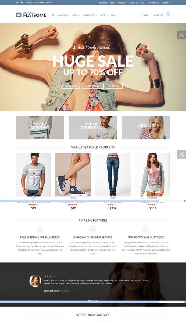 Flat Great WordPress Theme for 2014 image