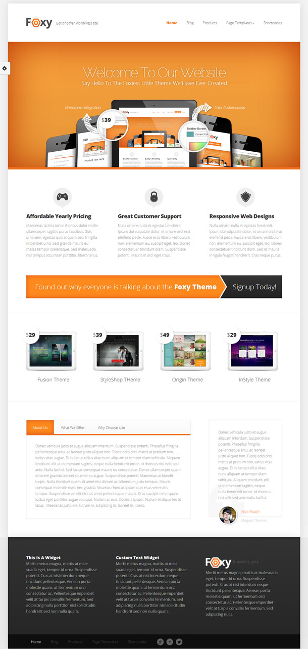Foxy Great WordPress Theme for 2014 image