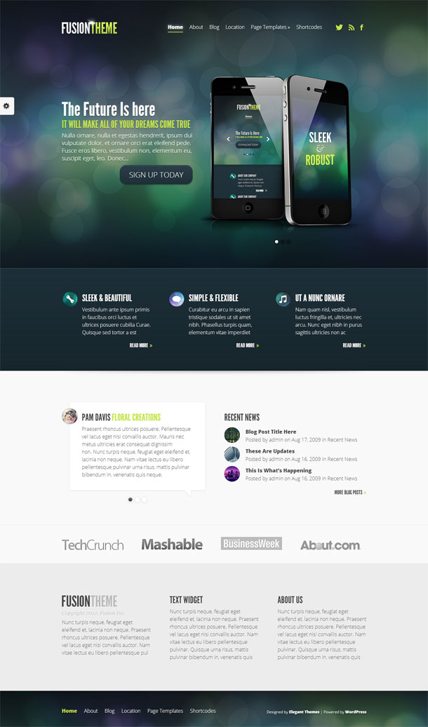 Fusion Great WordPress Theme for 2014 image