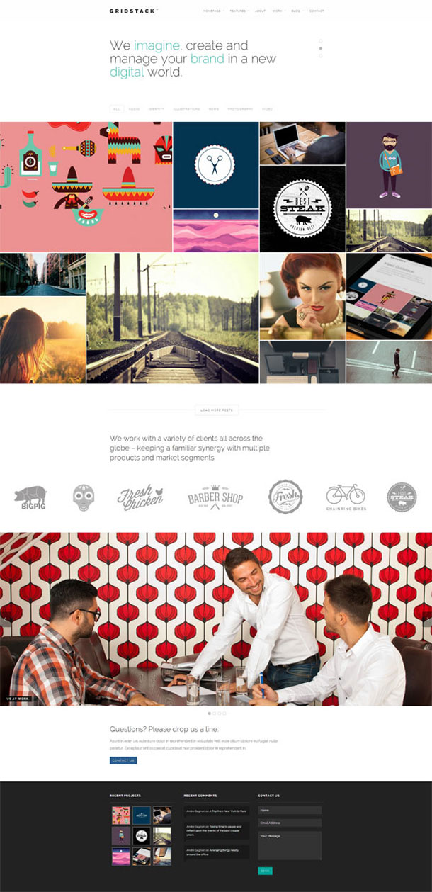 GridStack Grid Theme Image