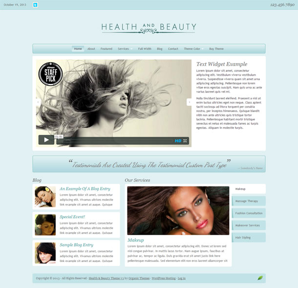 Health and Beauty Feminine Theme Image