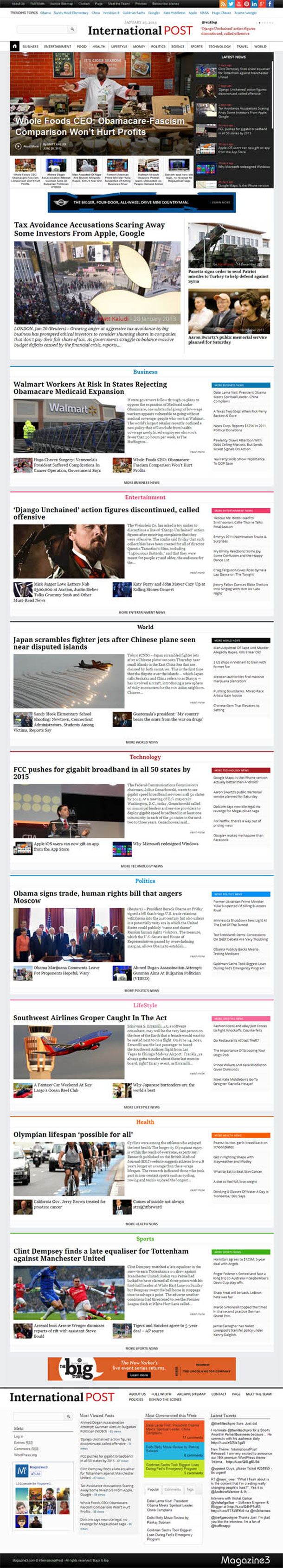 International Post News Theme Image
