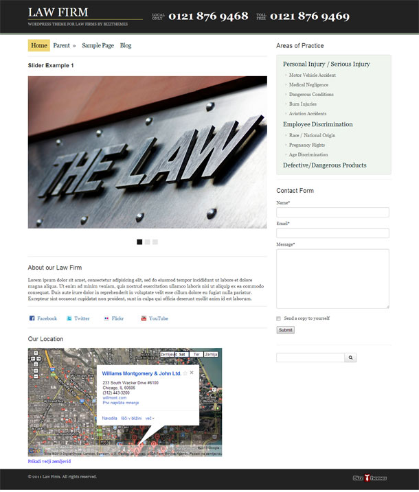 Law Firm Lawyers & Law Firms Theme Image
