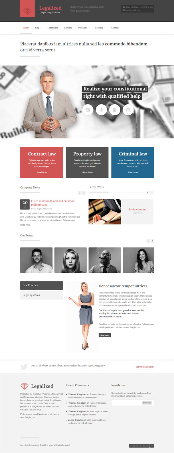 Legalized Lawyers & Law Firms Theme Image