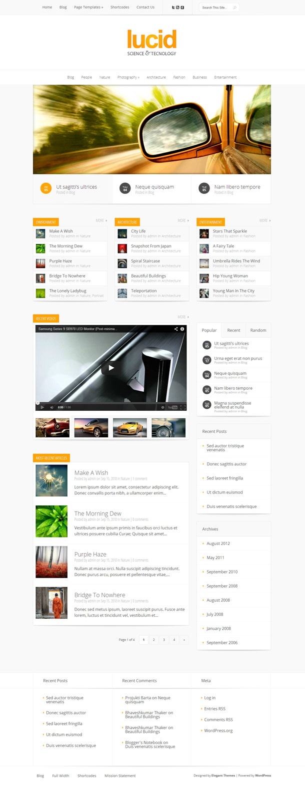 Lucid Great WordPress Theme for 2014 image